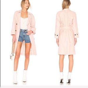 NEW • Joie • Damonica Trench Coat Washed Rose
